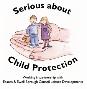 Serious about child protection with text