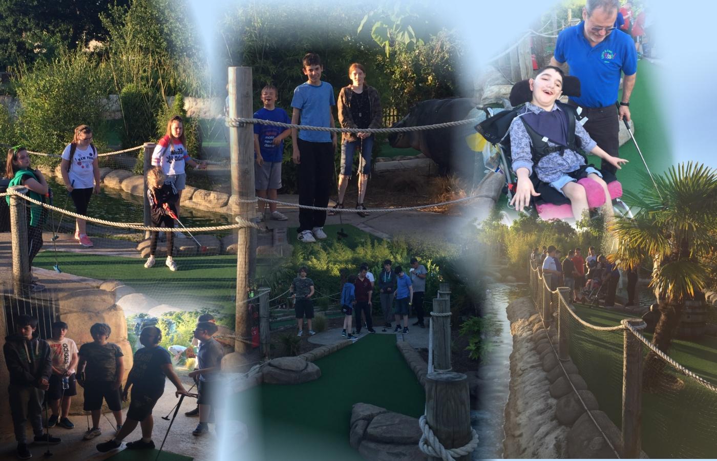 Apr mini golf day