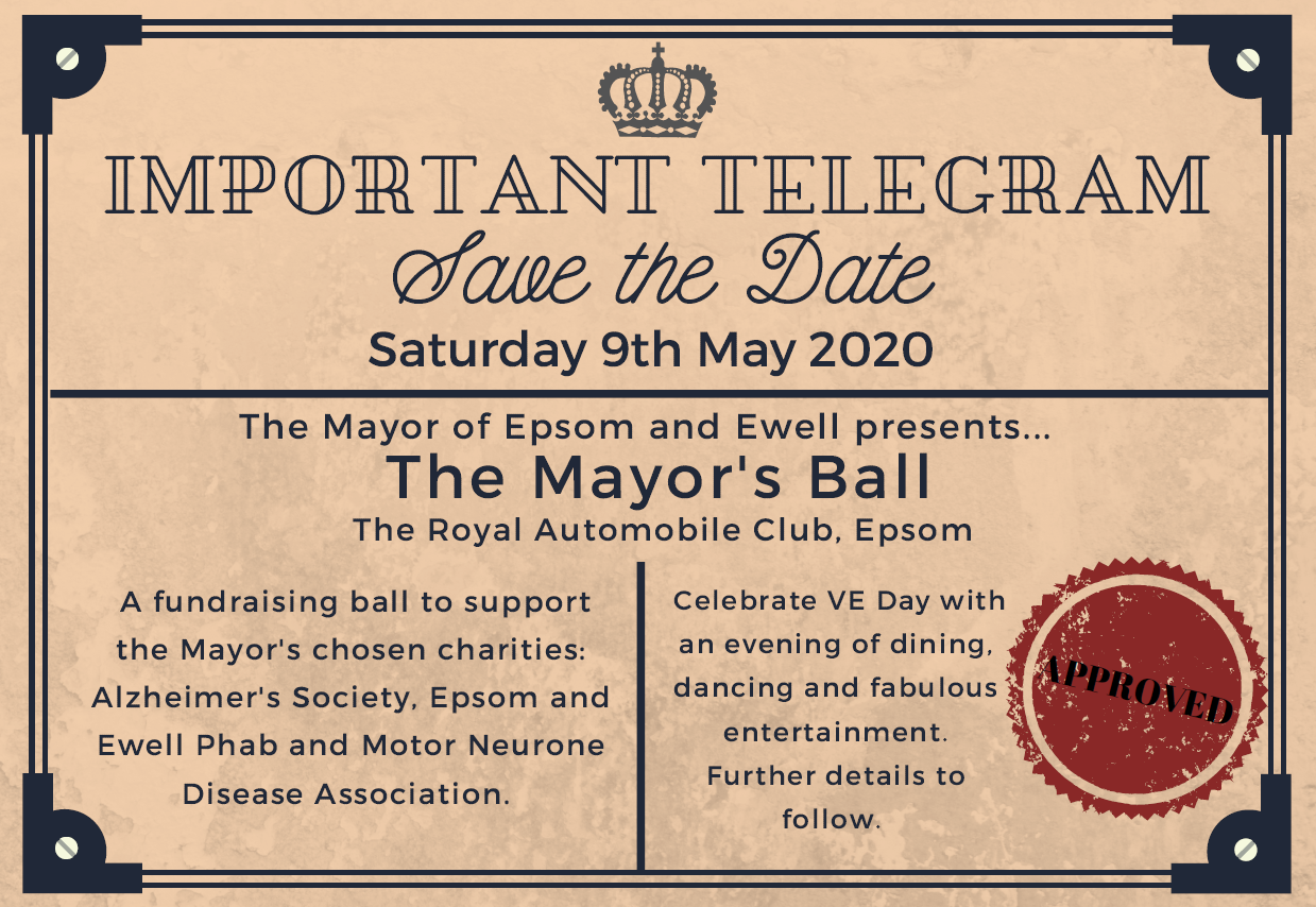 Mayor's ball save the date