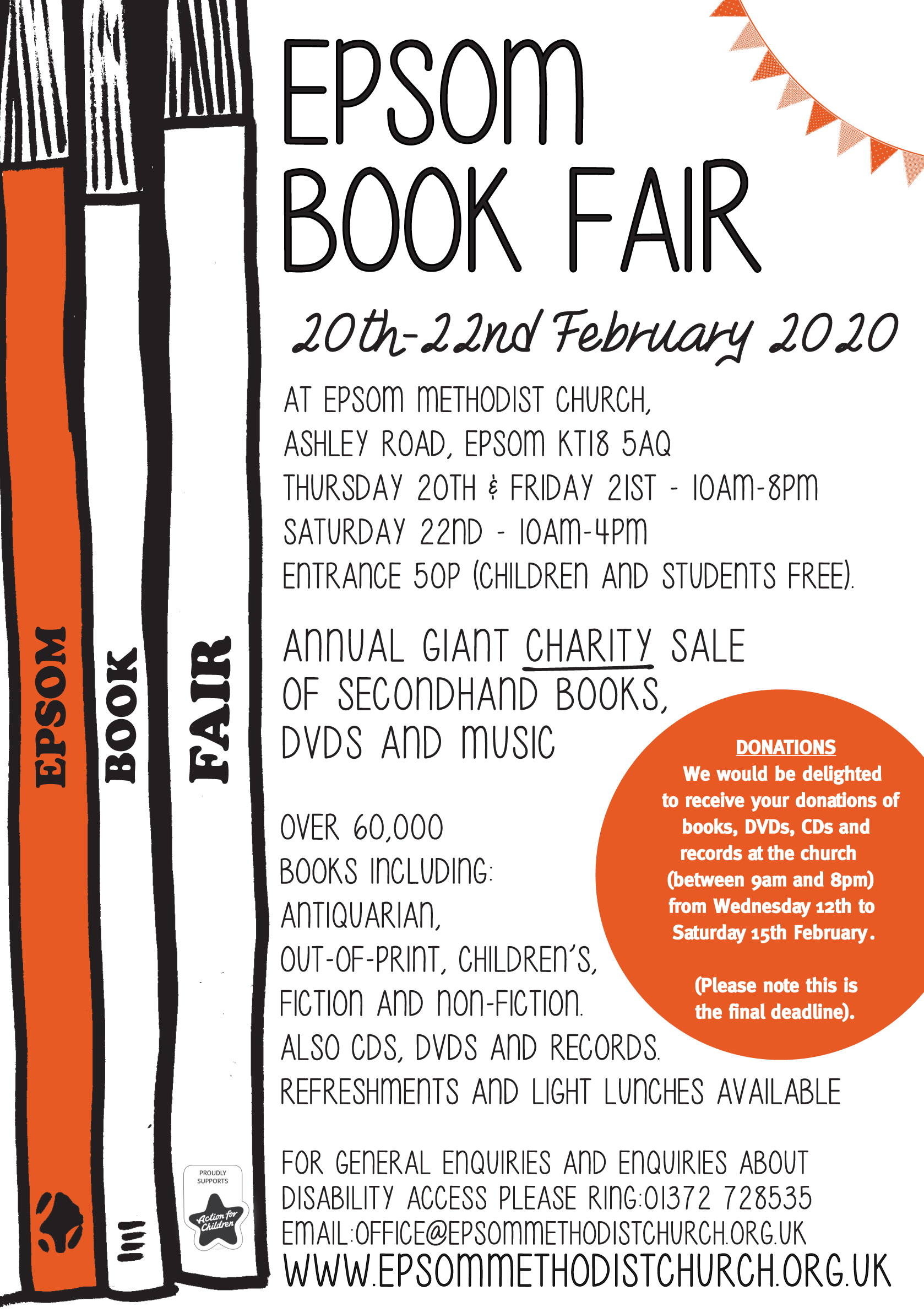 Epsom book fair 2020