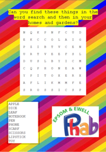 Wordsearch for phab kids